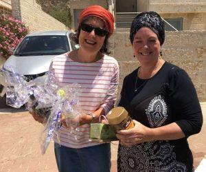 Chaya Sarah Baruch with volunteer Pam
